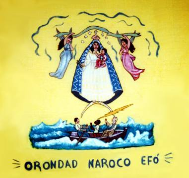 Efo Nation flag from Matanzas (21696 bytes)